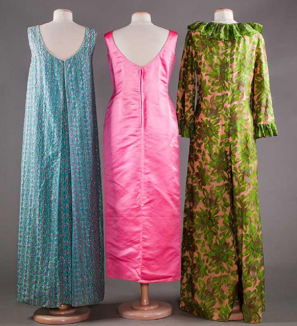 THREE EVENING GOWNS, 1960-1970s - 3