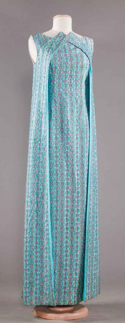 THREE EVENING GOWNS, 1960-1970s - 4