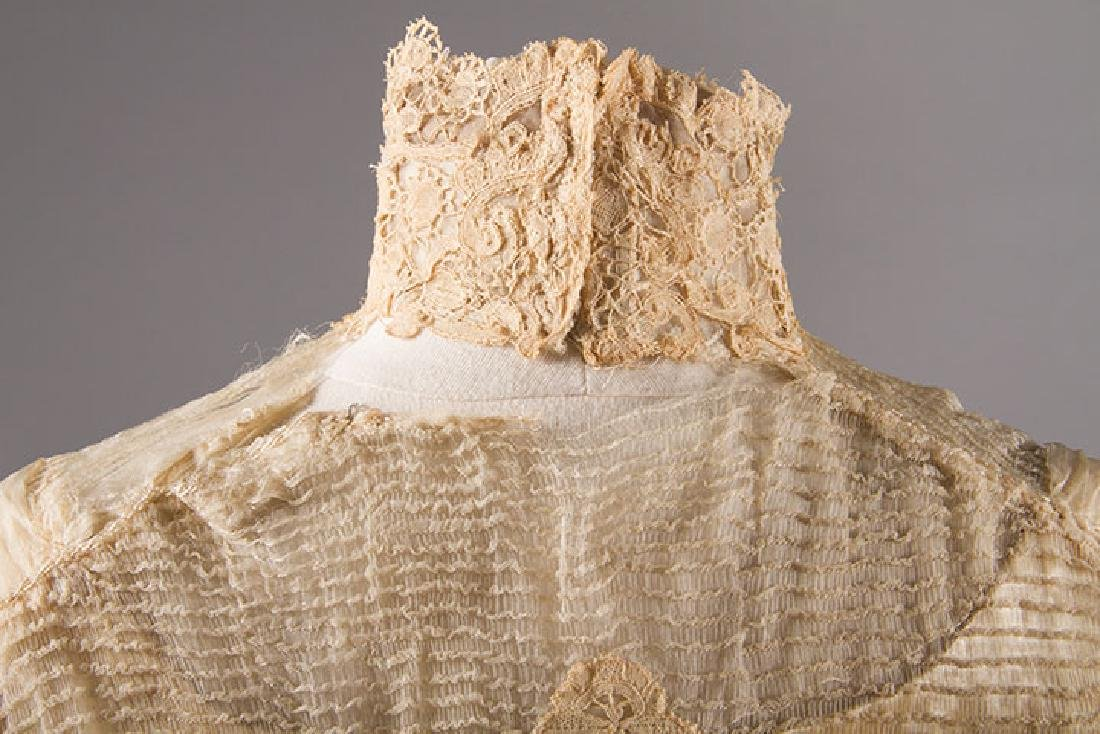 SILK & BRUSSELS LACE WEDDING GOWN, NYC, 1902 - 7