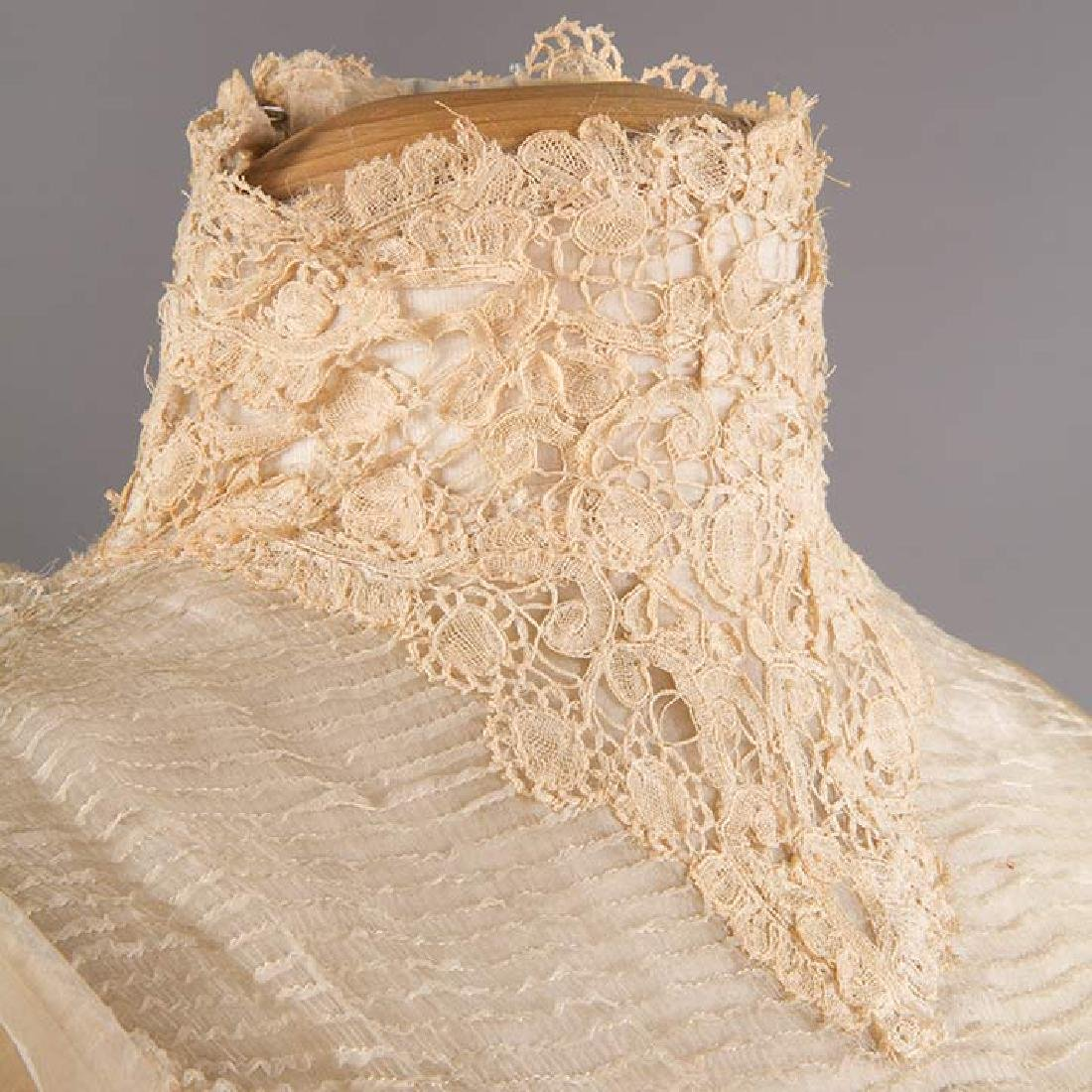 SILK & BRUSSELS LACE WEDDING GOWN, NYC, 1902 - 8