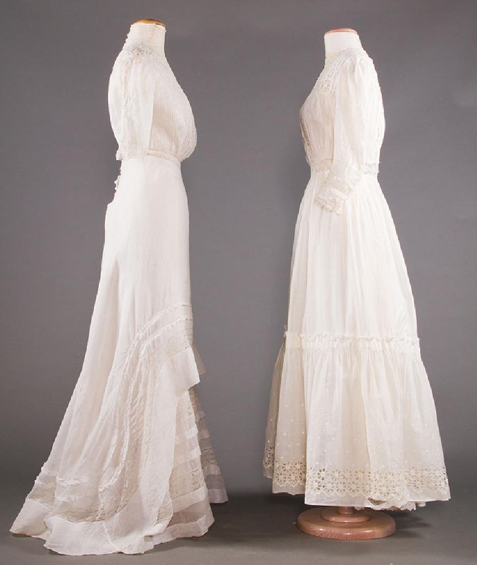 TWO WHITE LAWN TEA GOWNS, 1900-1904 - 2