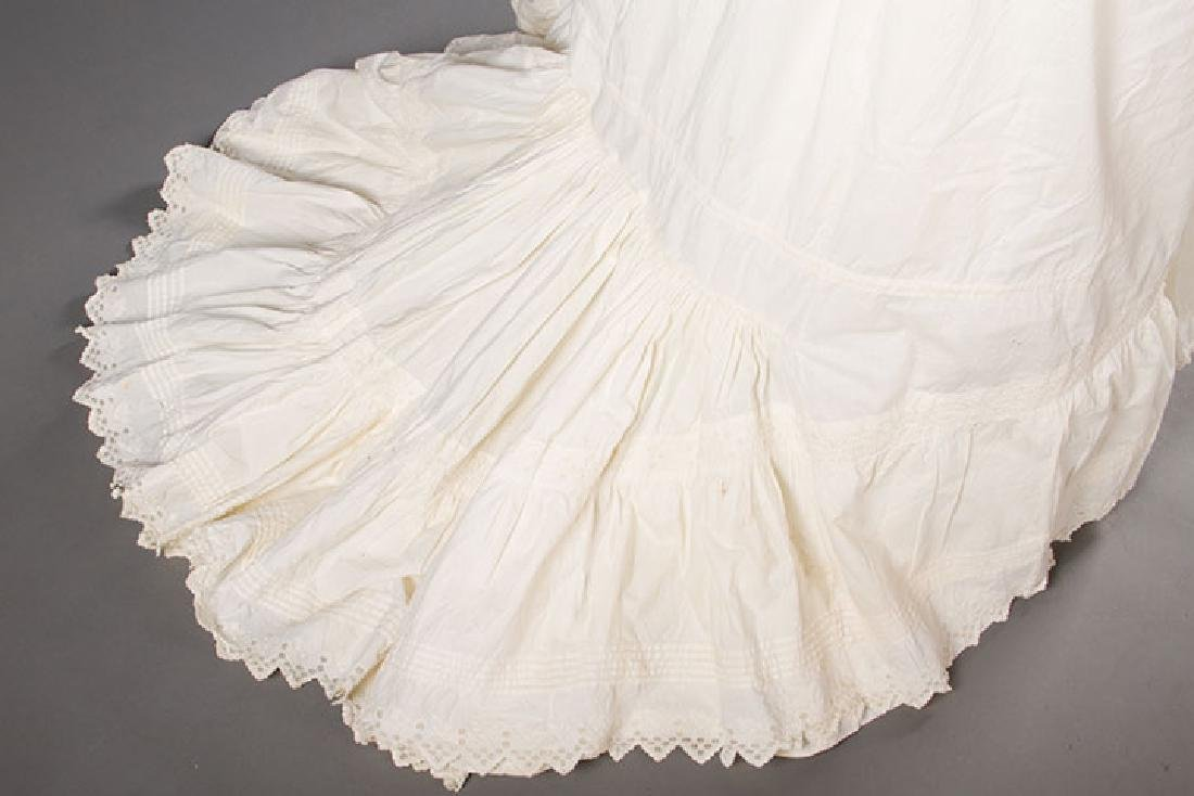 TWO TRAINED BUSTLE PETTICOATS, 1870-1880s - 4