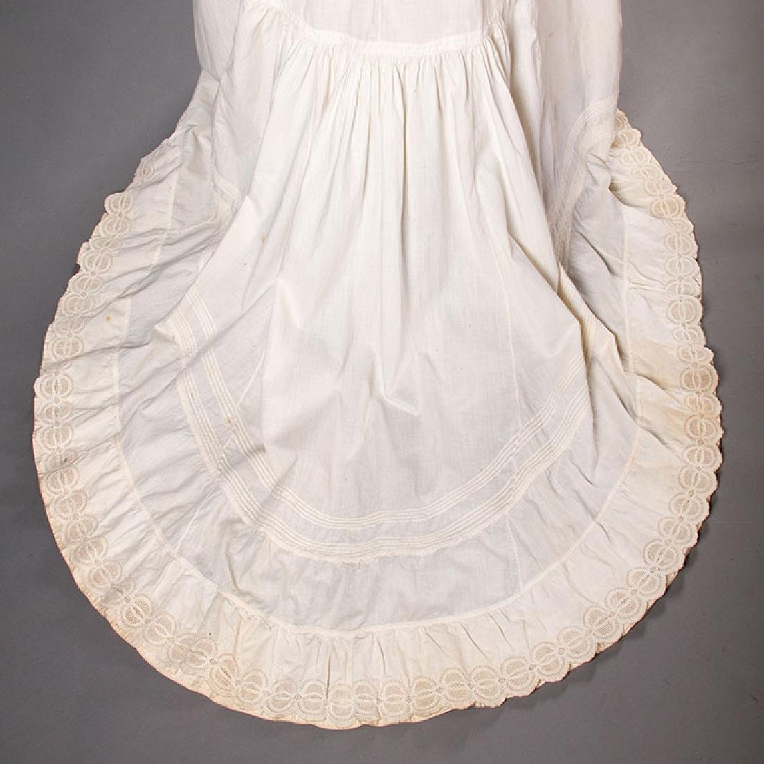 TWO TRAINED BUSTLE PETTICOATS, 1870-1880s - 5