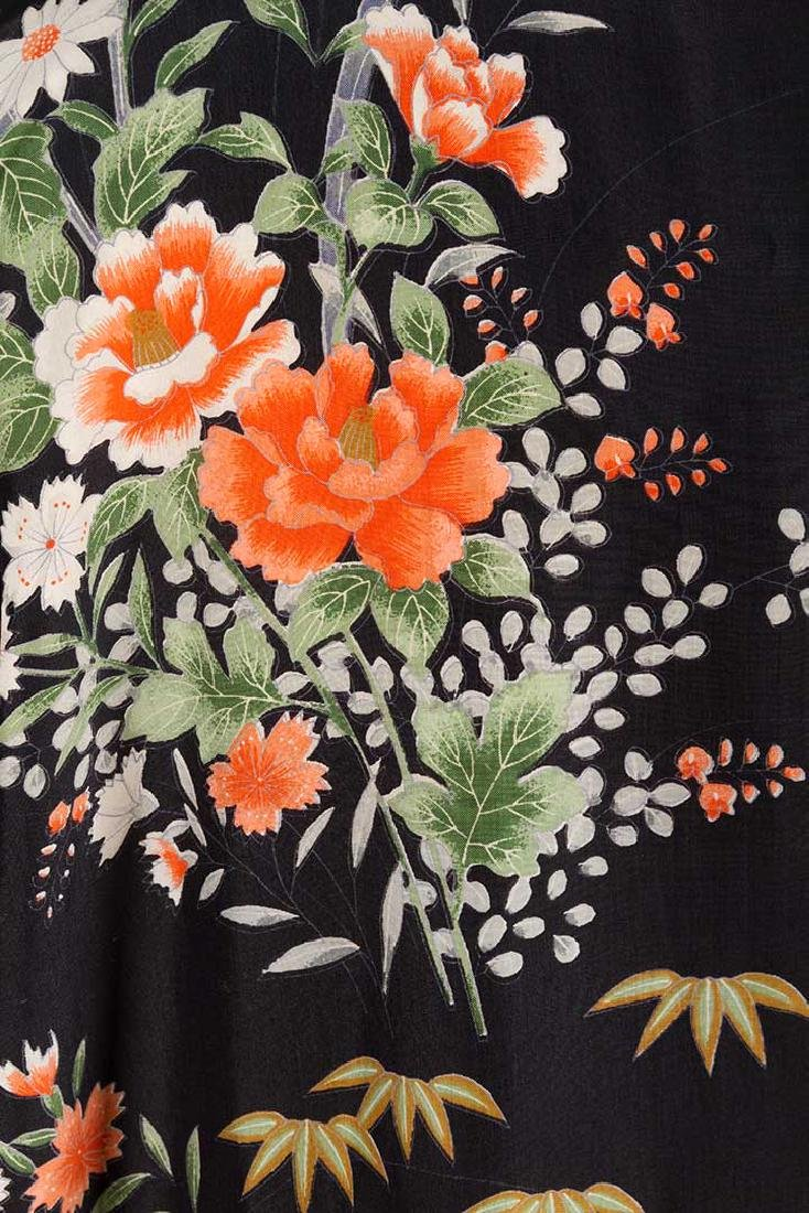 THREE LADIES' SILK PRINTED KIMONO, JAPAN - 8