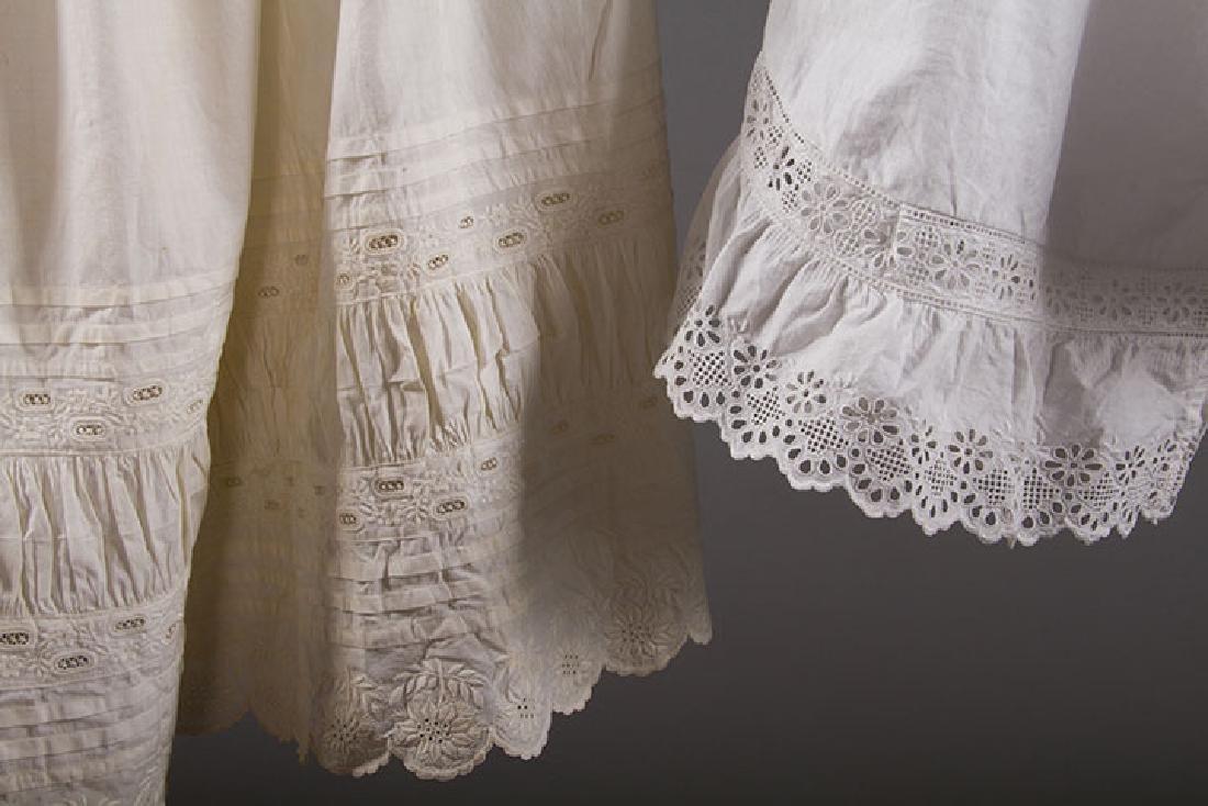 4 PAIR LADIES' DRAWERS & 1 PETTICOAT, 1850-1890s - 7