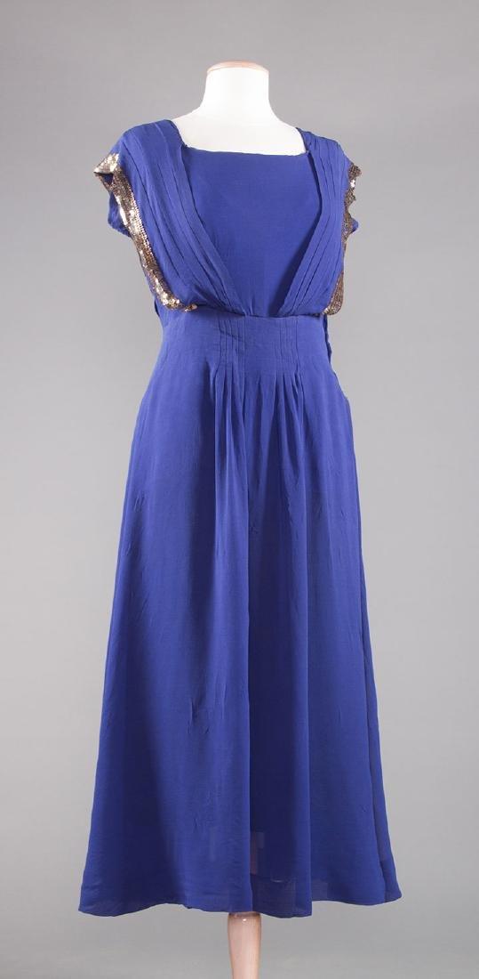 1 PURPLE & 1 NAVY SILK DRESS, 1930-1940 - 4