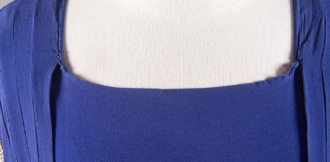 1 PURPLE & 1 NAVY SILK DRESS, 1930-1940 - 9