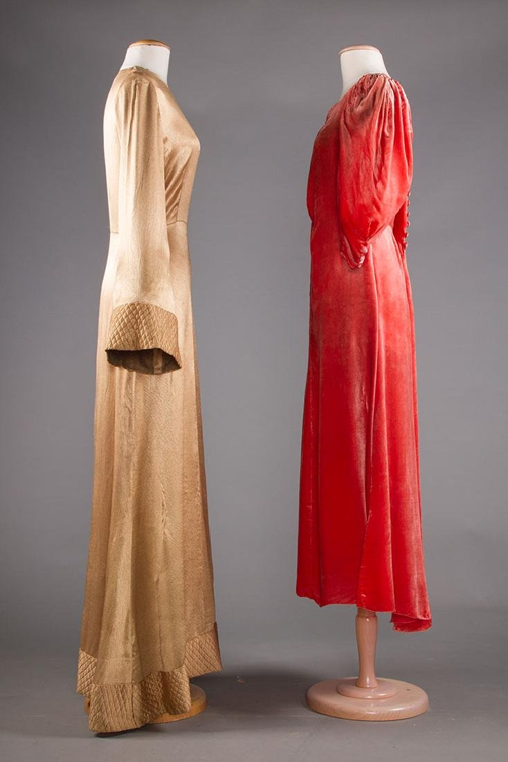 TWO EVENING GOWNS, 1940s - 2