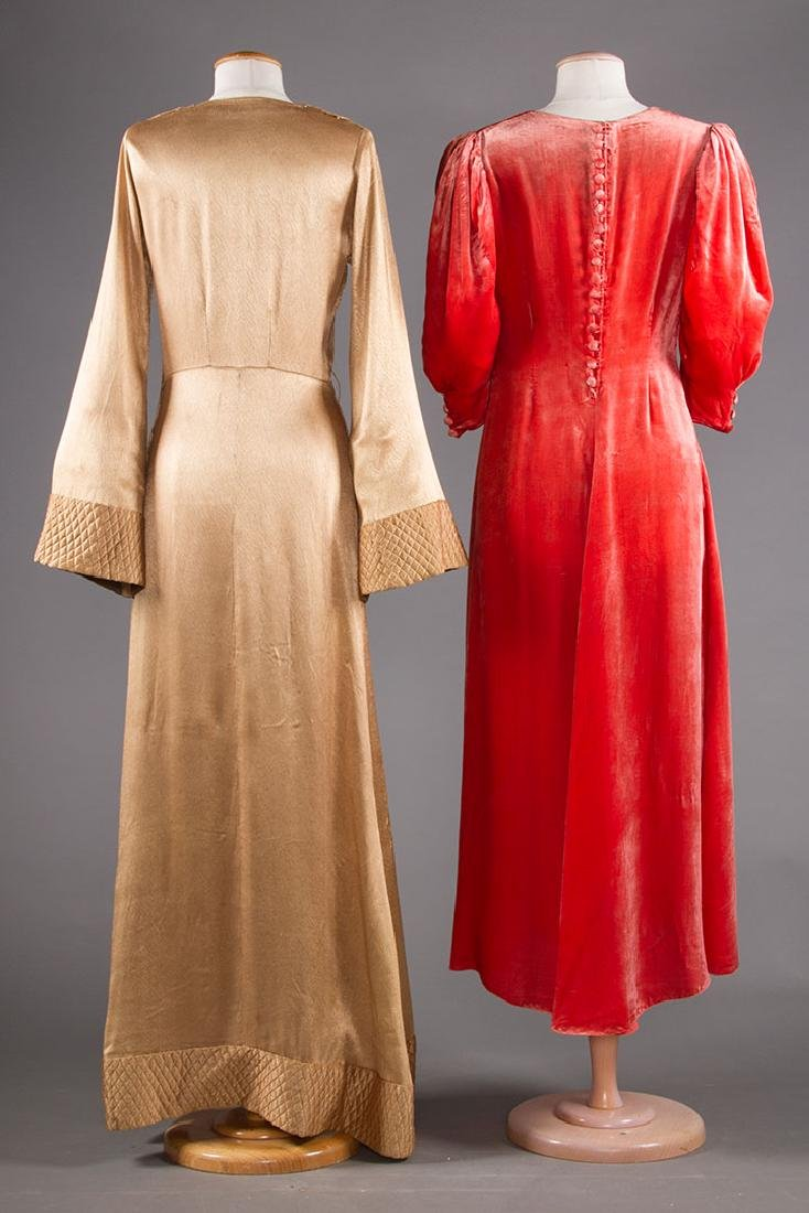 TWO EVENING GOWNS, 1940s - 3