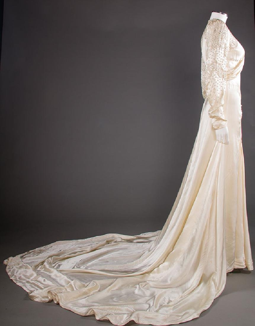 METAL STUDDED WEDDING GOWN, 1942-1945 - 3