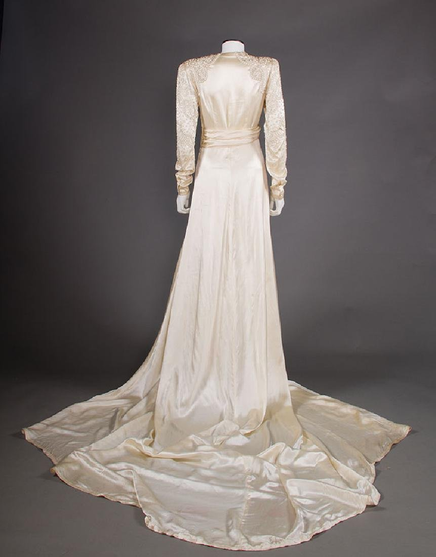 METAL STUDDED WEDDING GOWN, 1942-1945 - 4