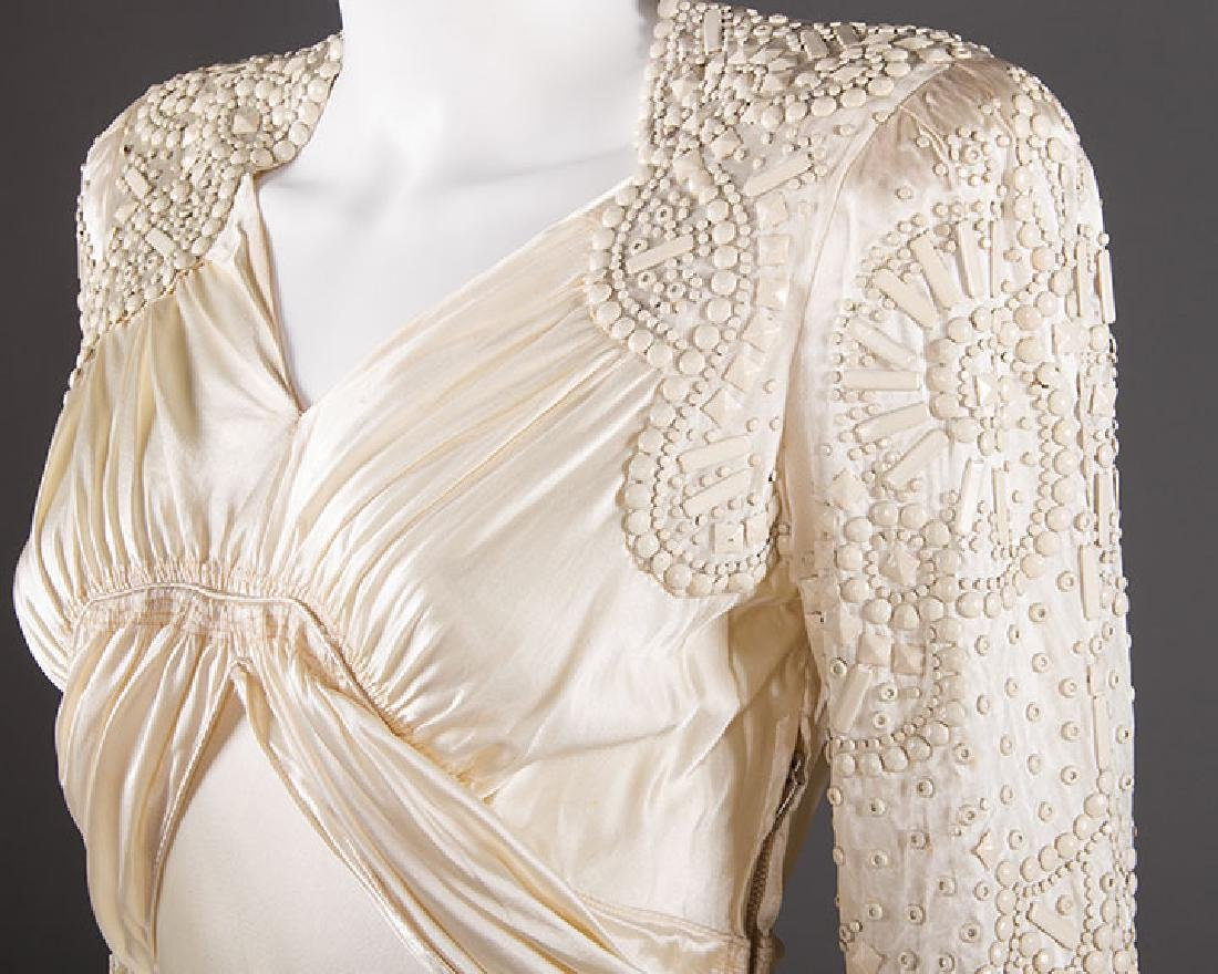 METAL STUDDED WEDDING GOWN, 1942-1945 - 5