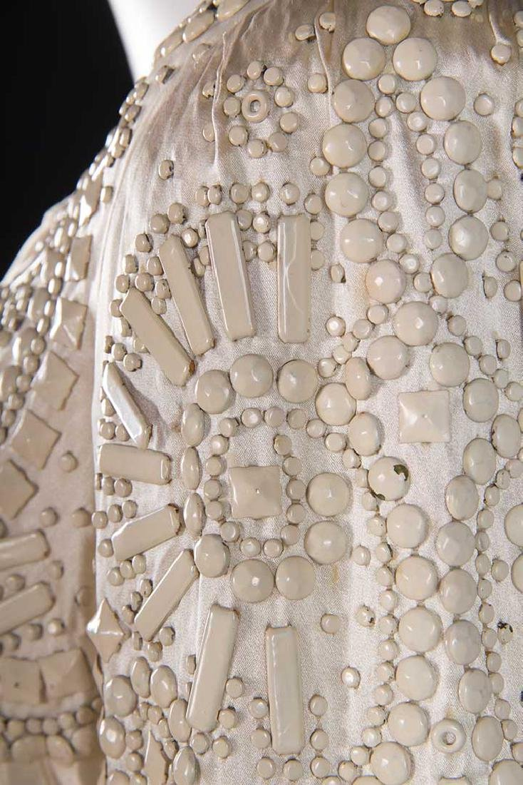 METAL STUDDED WEDDING GOWN, 1942-1945 - 6