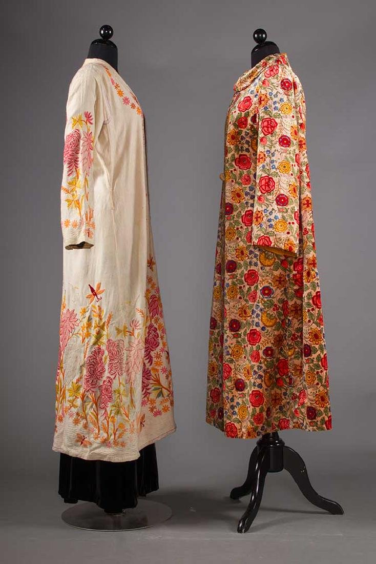 TWO FLORAL TRIMMED COATS, 1930-1940 - 2