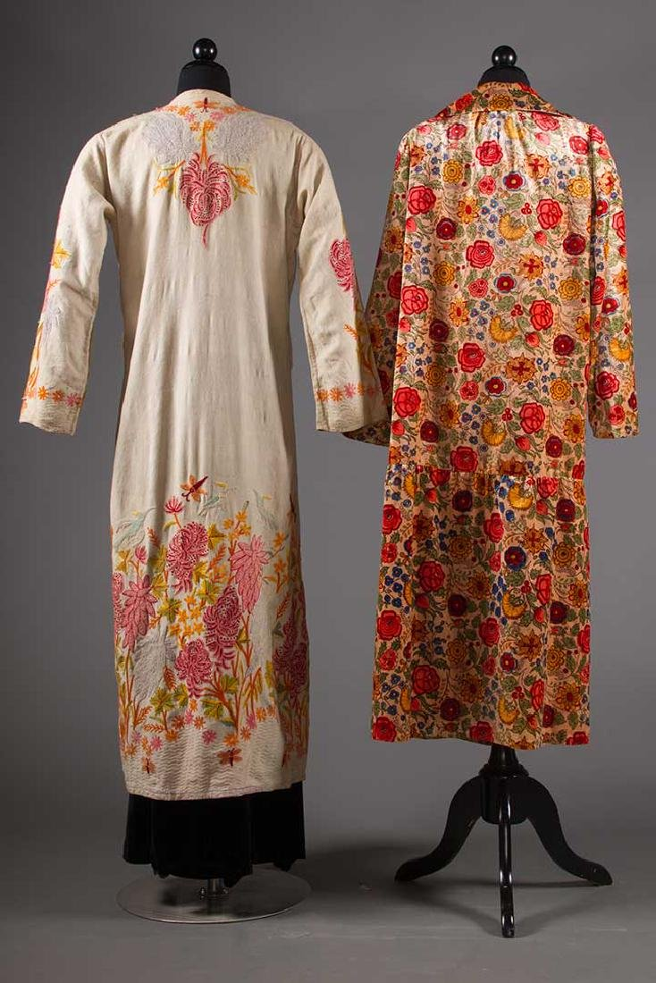 TWO FLORAL TRIMMED COATS, 1930-1940 - 3