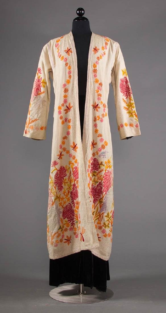 TWO FLORAL TRIMMED COATS, 1930-1940 - 4