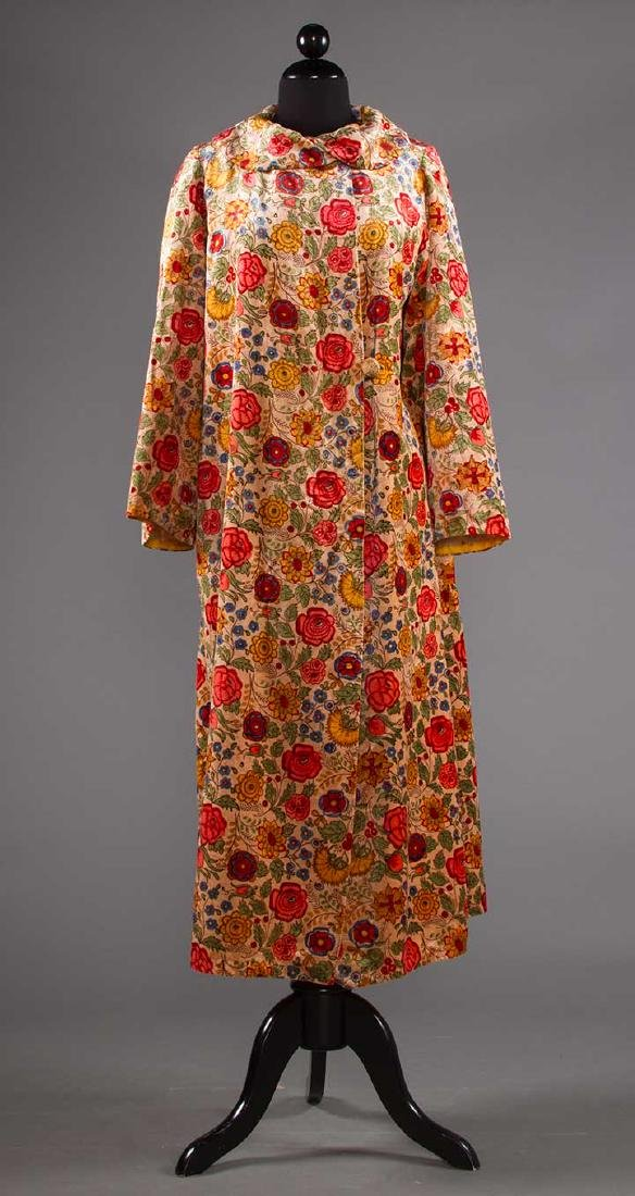 TWO FLORAL TRIMMED COATS, 1930-1940 - 6