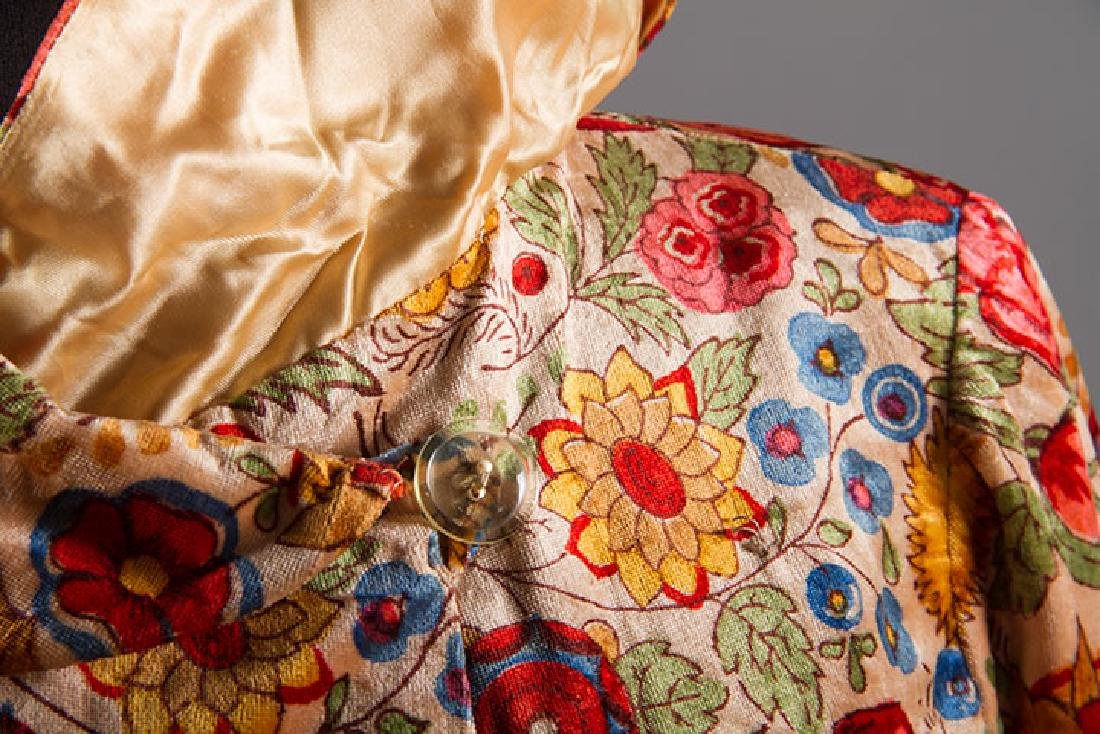 TWO FLORAL TRIMMED COATS, 1930-1940 - 7