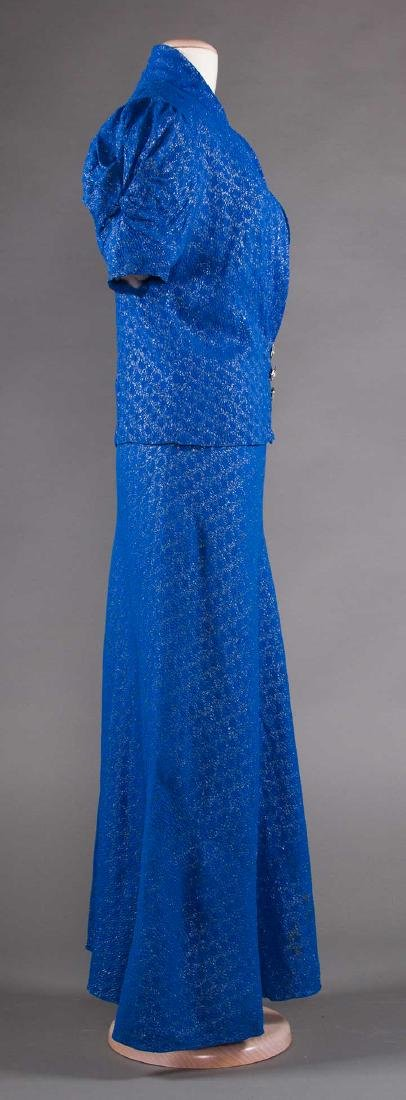 1 BLUE & 1 PURPLE EVENING GOWN, 1930s - 5