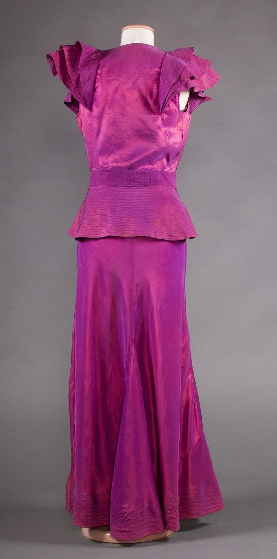 1 BLUE & 1 PURPLE EVENING GOWN, 1930s - 7