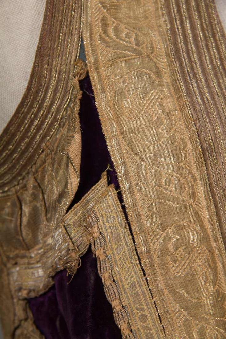 PURPLE VELVET & GOLD SLEEVELESS COAT, ALBANIA - 10