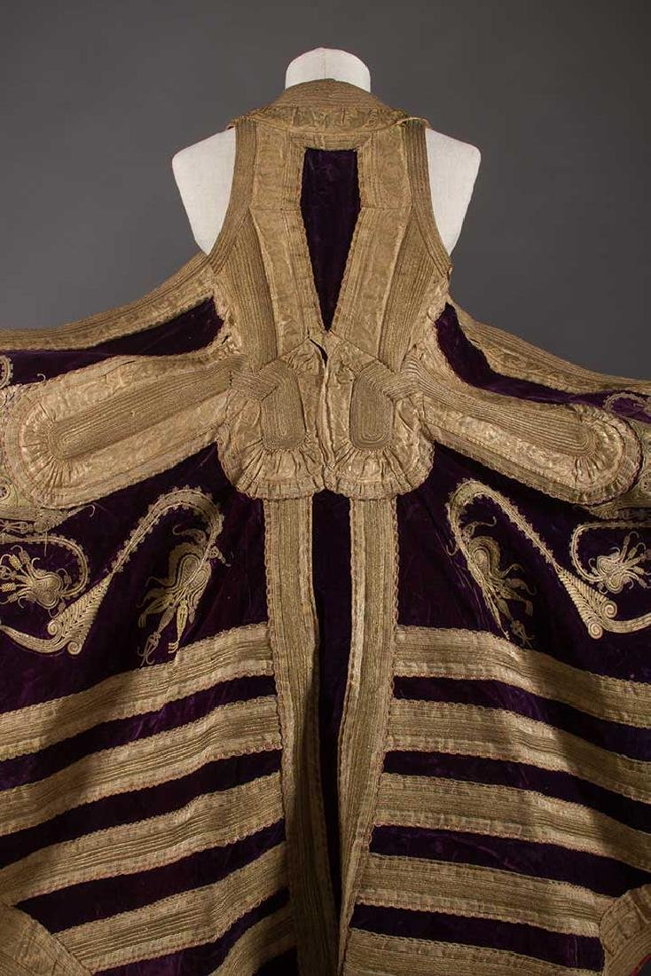 PURPLE VELVET & GOLD SLEEVELESS COAT, ALBANIA - 8