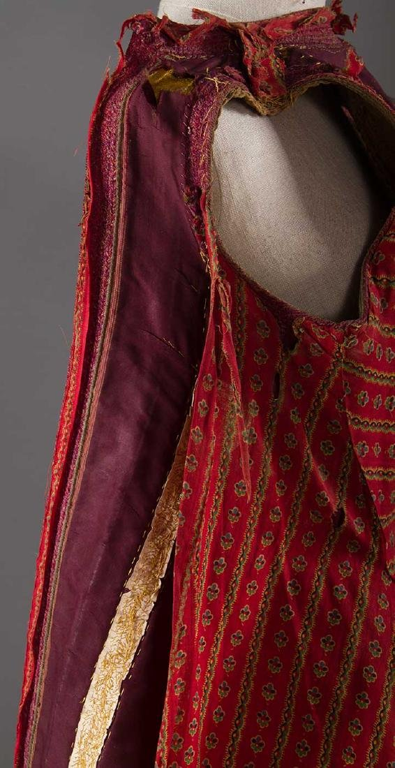 GARNET VELVET & GOLD SLEEVELESS COAT, ALBANIA - 9