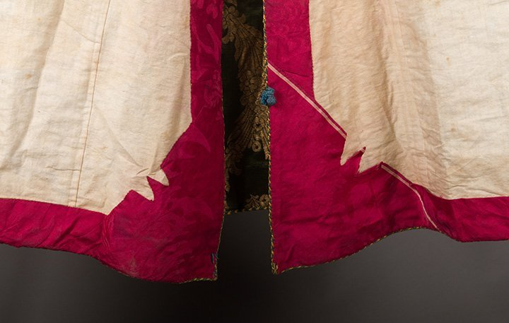 DARK GREEN & GOLD LAME BROCADE CAFTAN, 19TH C. - 14