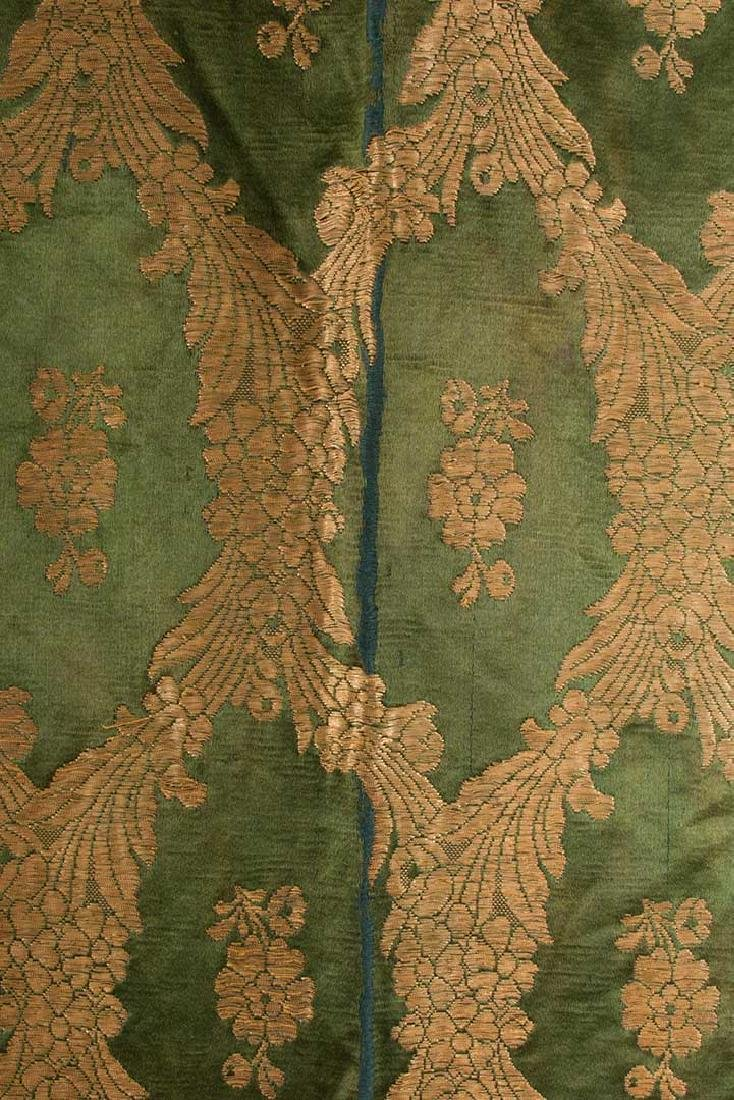 DARK GREEN & GOLD LAME BROCADE CAFTAN, 19TH C. - 3