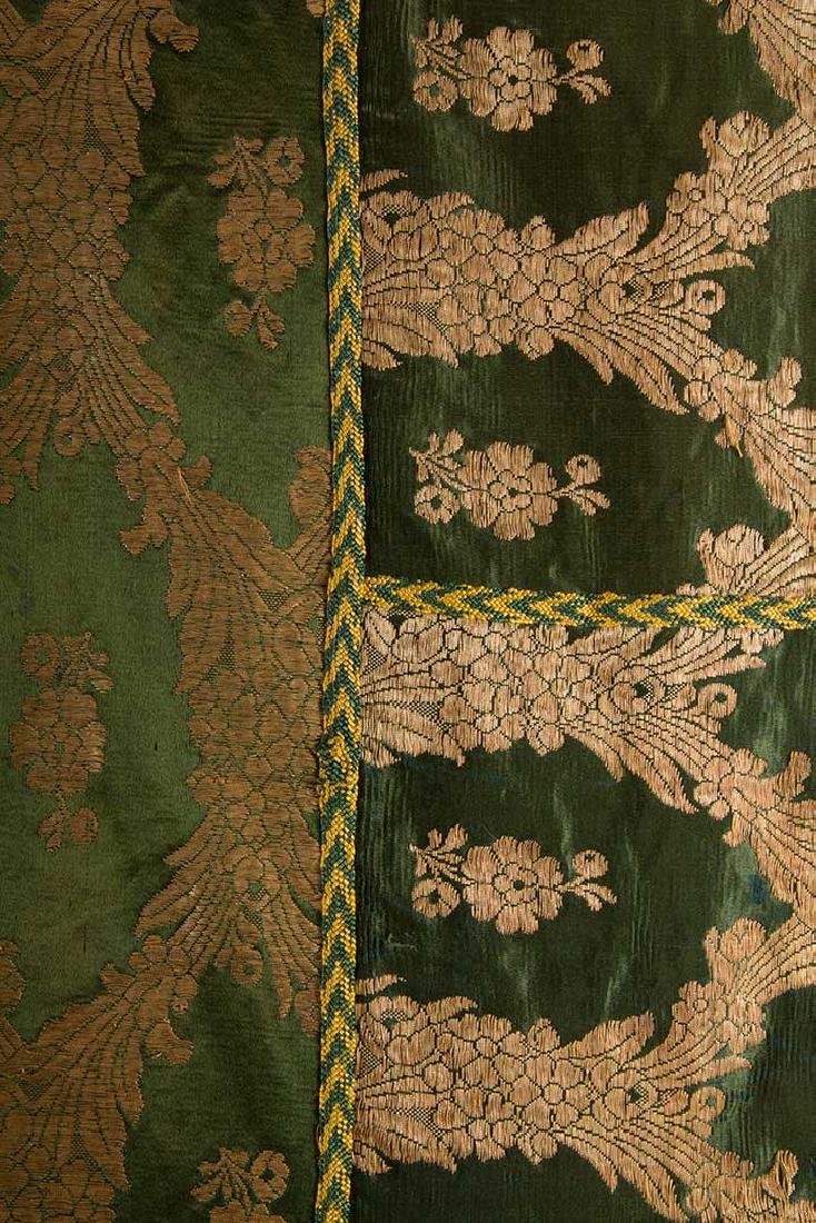 DARK GREEN & GOLD LAME BROCADE CAFTAN, 19TH C. - 4