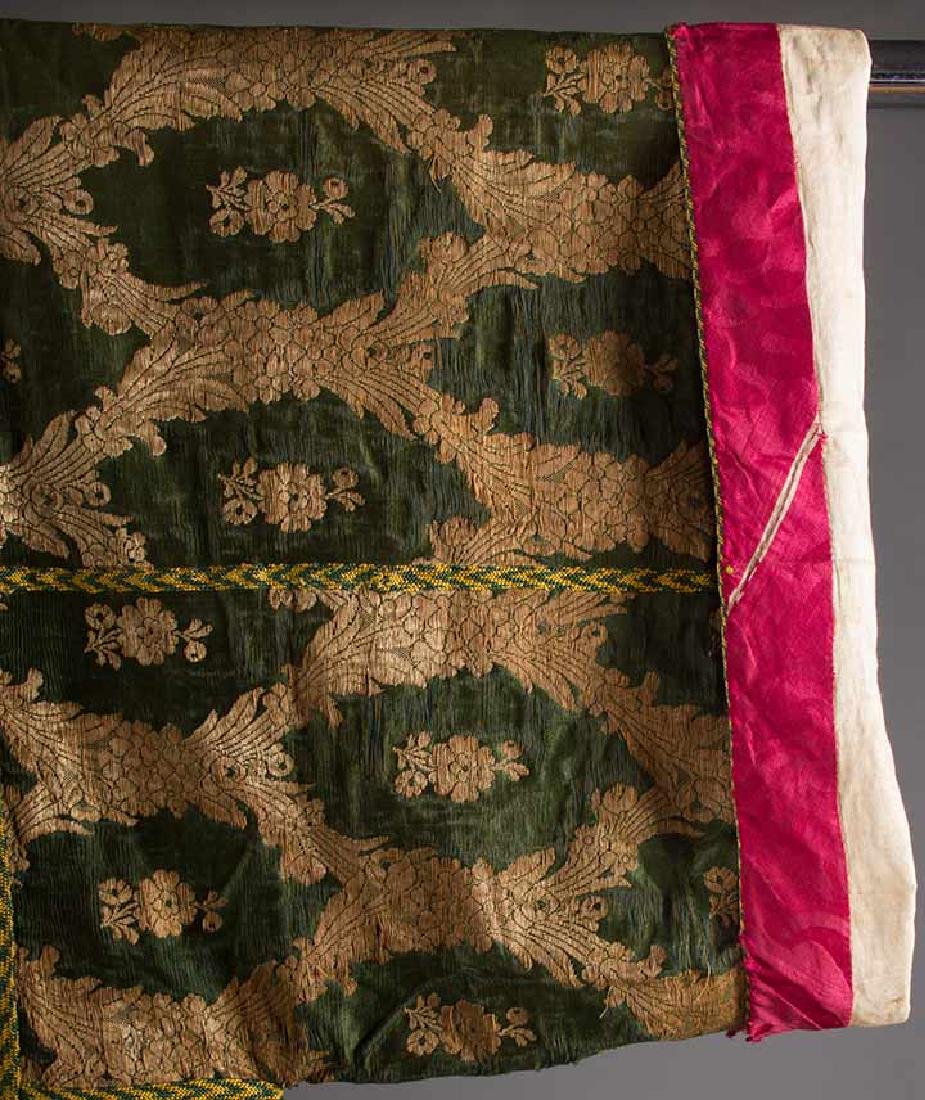 DARK GREEN & GOLD LAME BROCADE CAFTAN, 19TH C. - 6
