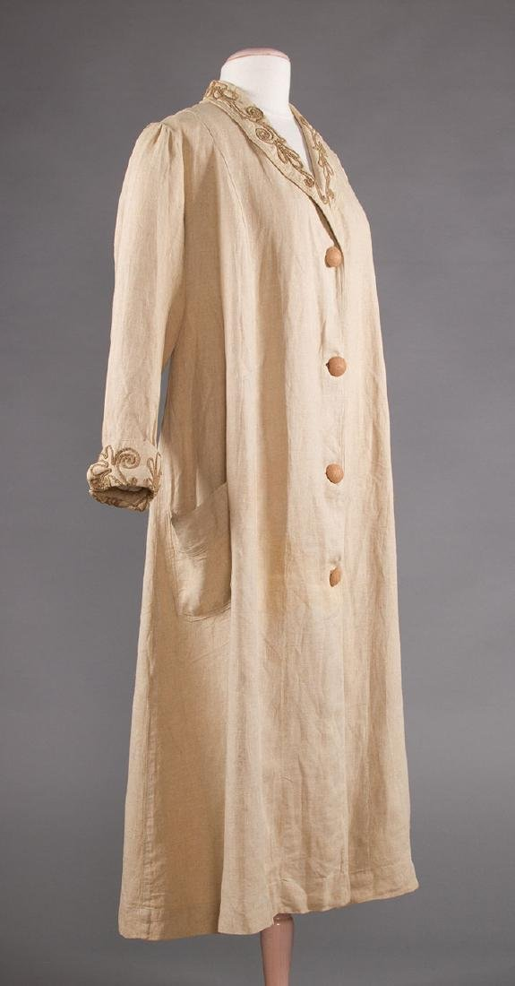 LADY'S EDWARDIAN LINEN DUSTER, c. 1905 - 2