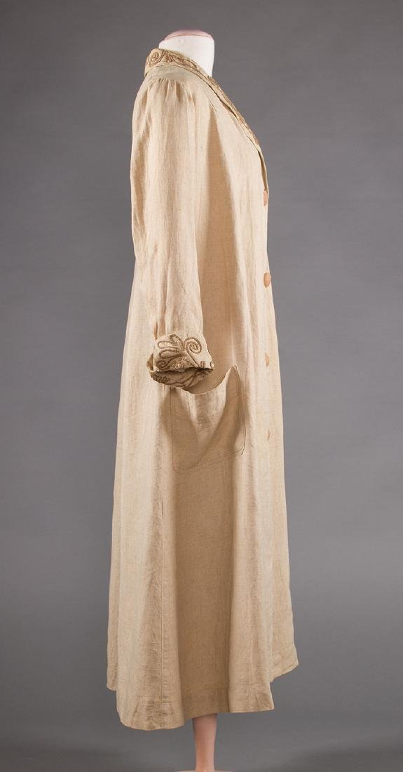 LADY'S EDWARDIAN LINEN DUSTER, c. 1905 - 3