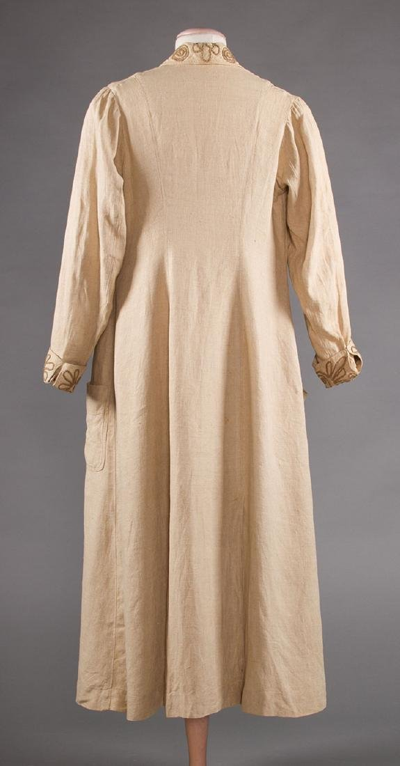 LADY'S EDWARDIAN LINEN DUSTER, c. 1905 - 4