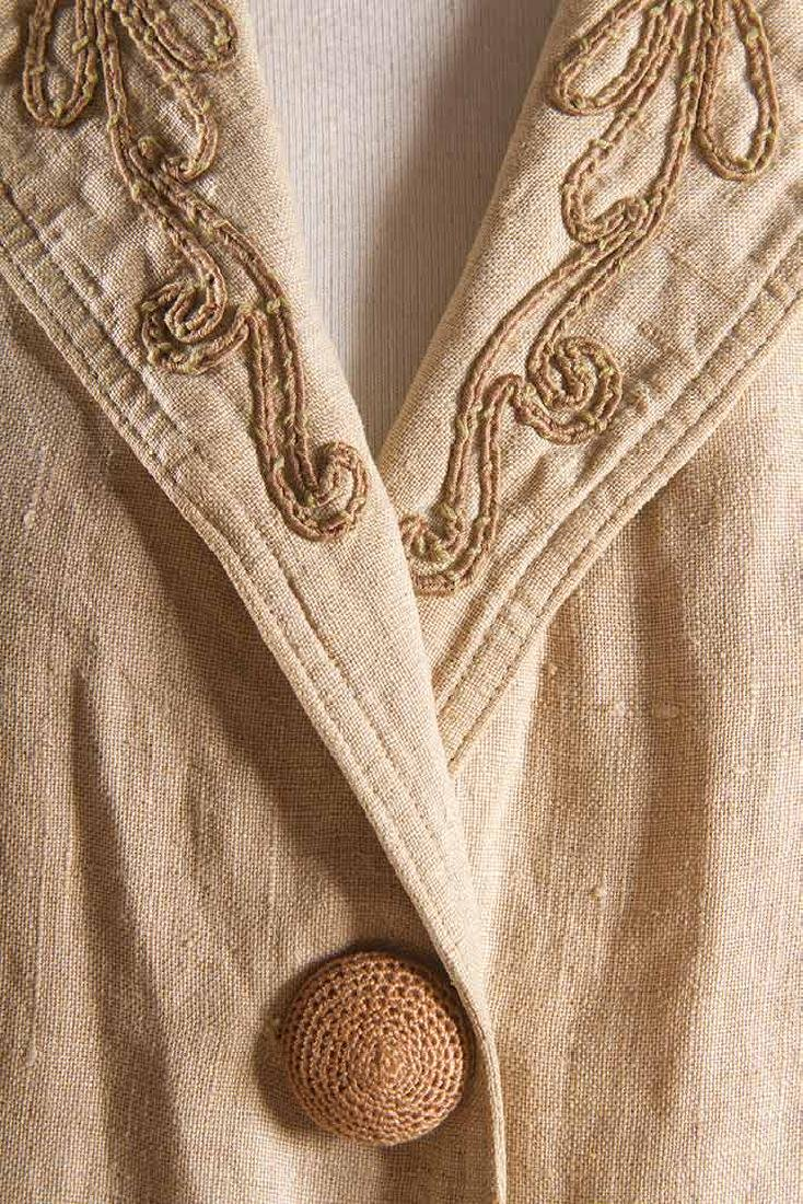LADY'S EDWARDIAN LINEN DUSTER, c. 1905 - 5