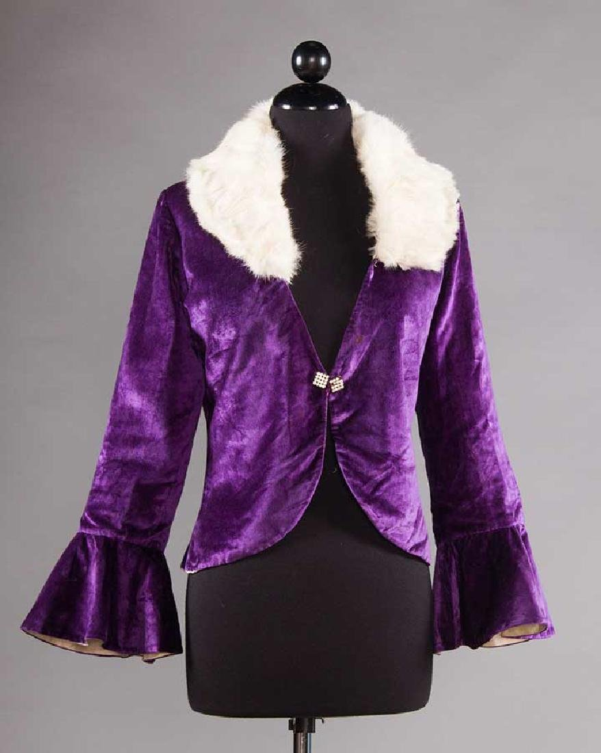3 SILK VELVET EVENING JACKETS, 1930s - 6