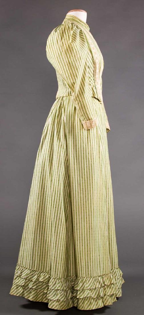 GREEN STRIPED DAY DRESS, c. 1895 - 3
