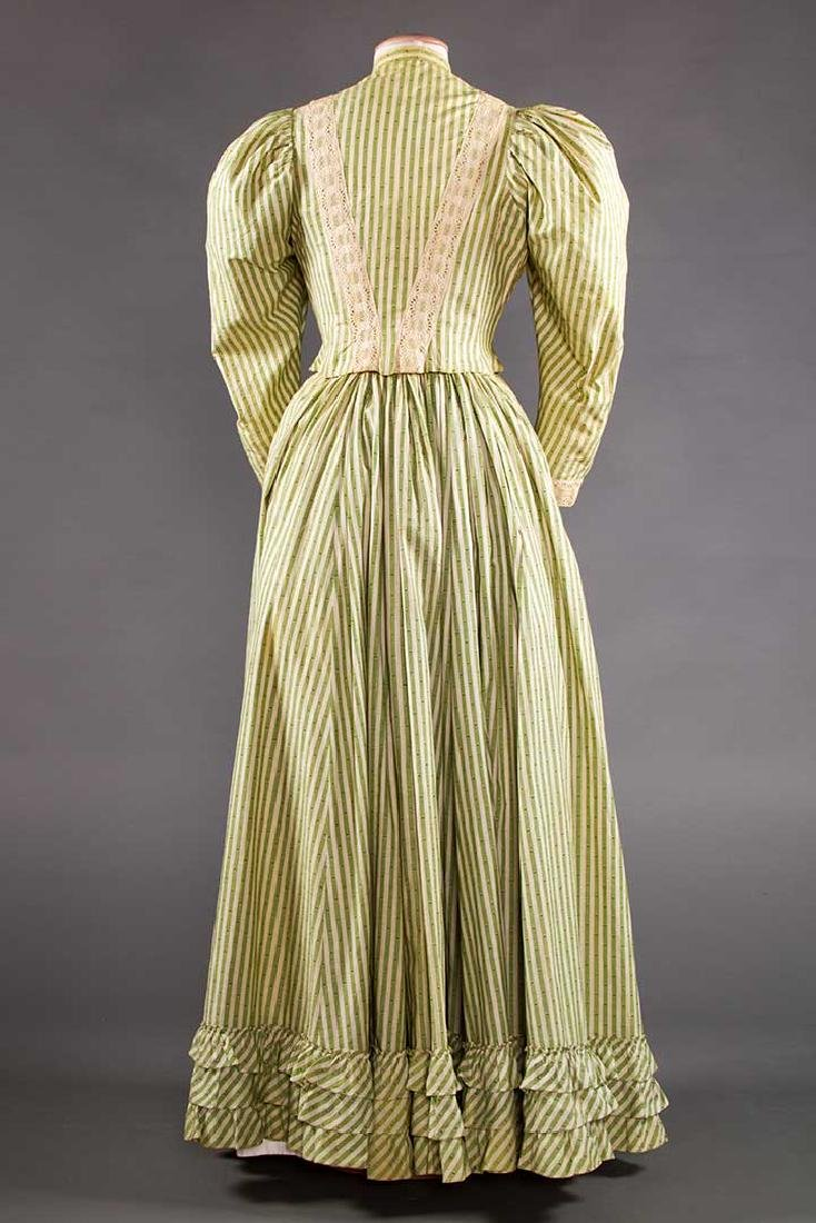 GREEN STRIPED DAY DRESS, c. 1895 - 4