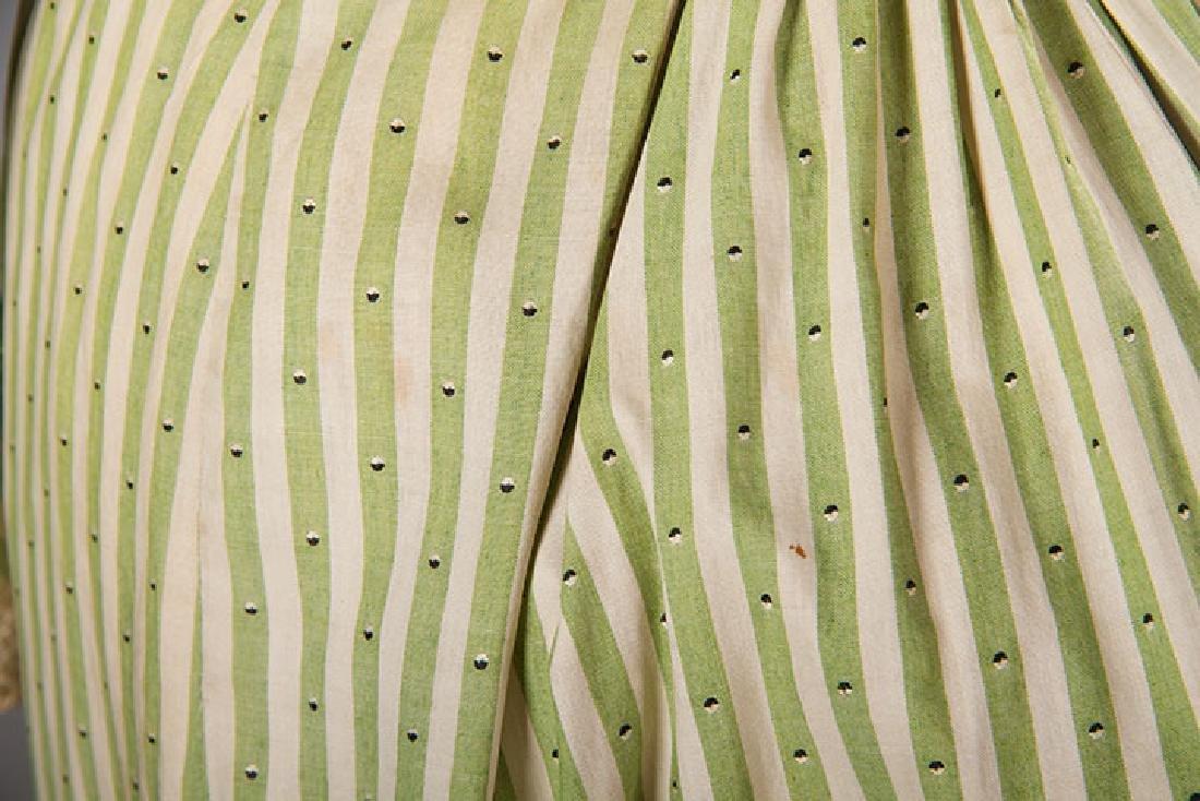 GREEN STRIPED DAY DRESS, c. 1895 - 7