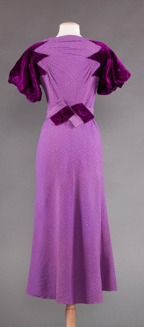 1 PURPLE & 1 BLACK EVENING GOWN, 1930s - 6