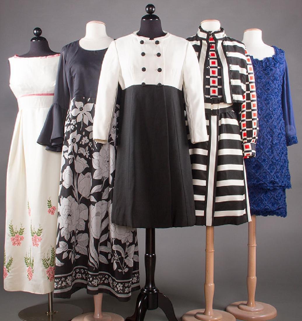 FIVE WOMENS' DRESSES, 1960s