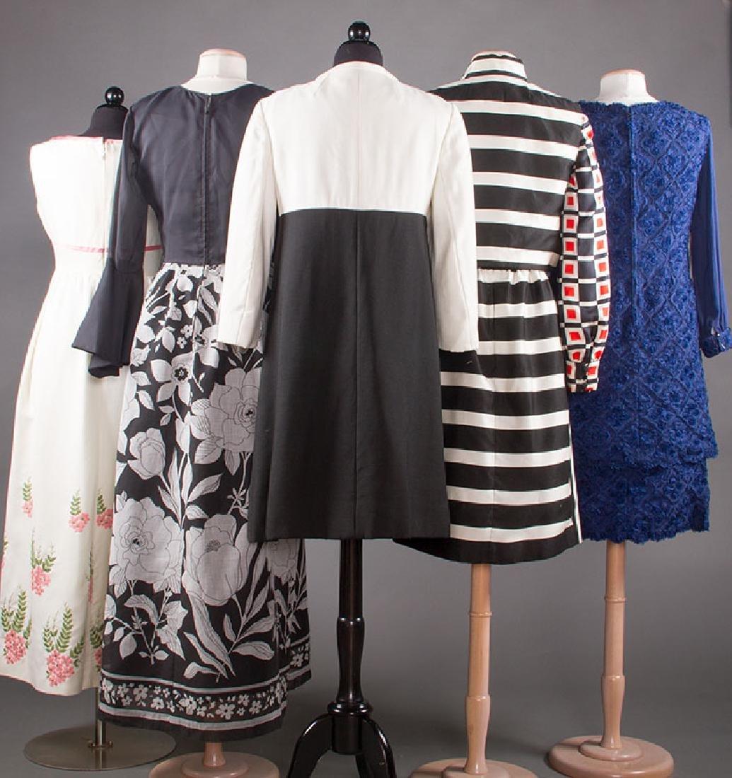 FIVE WOMENS' DRESSES, 1960s - 2