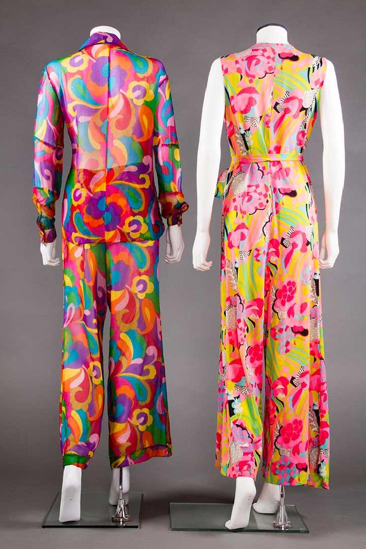 2 MOD PRINTED PANT OUTFITS, 1960s - 3