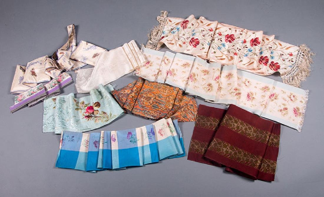 PATTERNED WIDE RIBBONS, 1880-1918