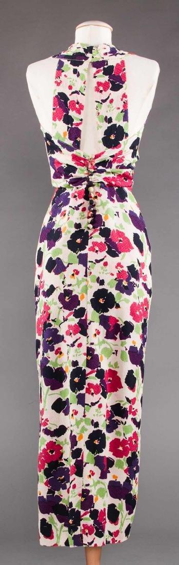 PRINTED SILK AFTERNOON DRESS, c. 1940 - 4