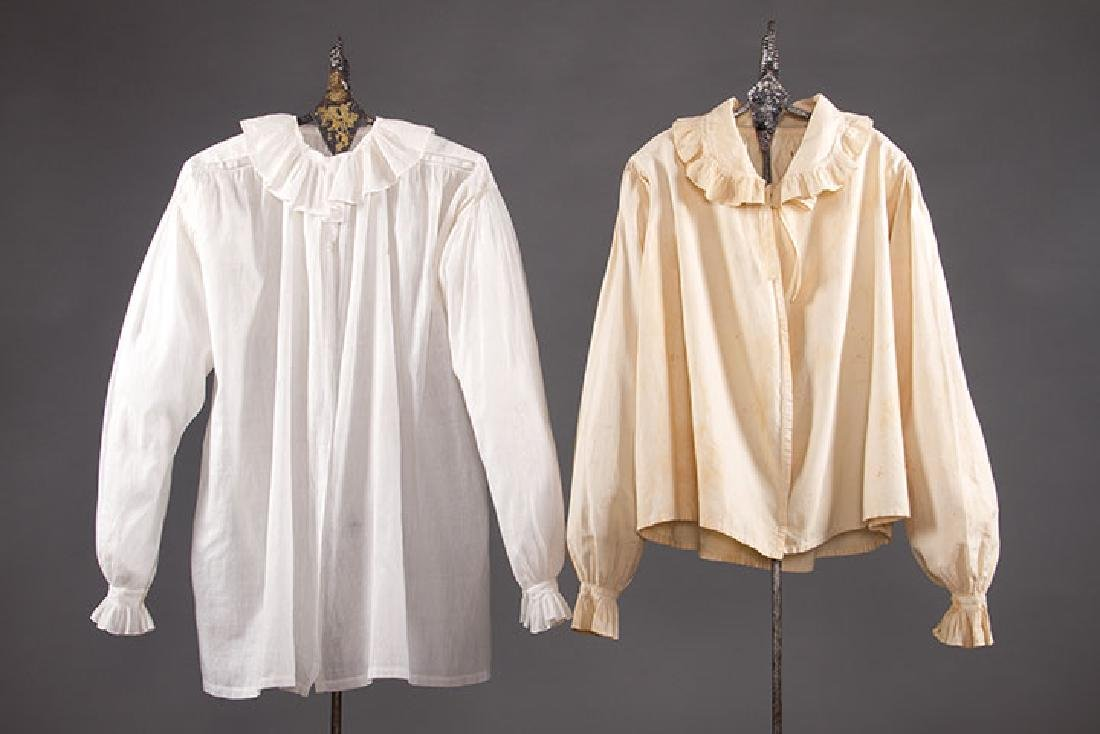 2 LADIES' COTTON SACQUES, EARLY 19TH C