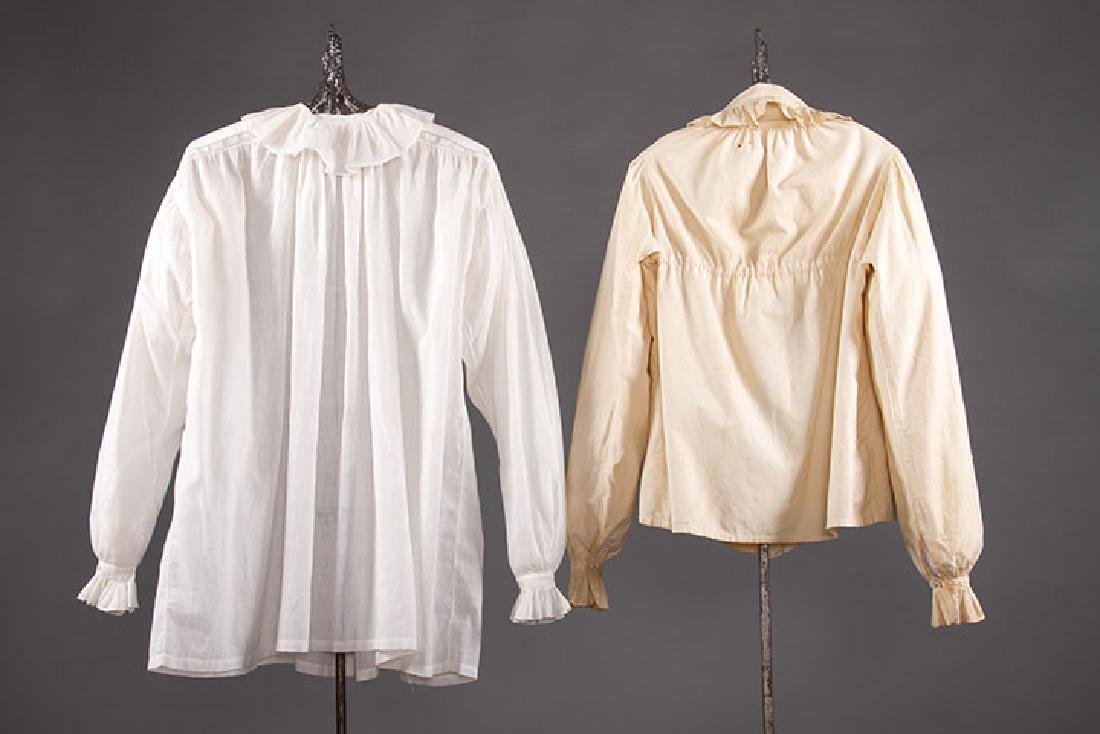 2 LADIES' COTTON SACQUES, EARLY 19TH C - 2