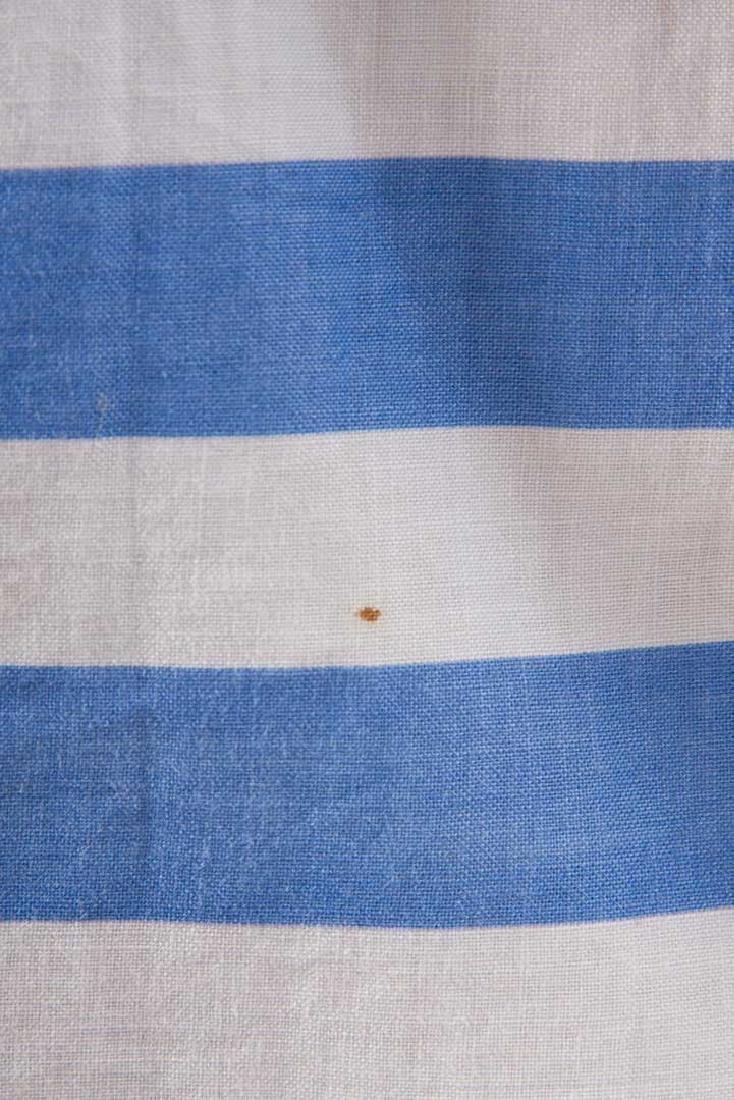 2 BLUE & WHITE COTTON DRESSES, 1950s - 9