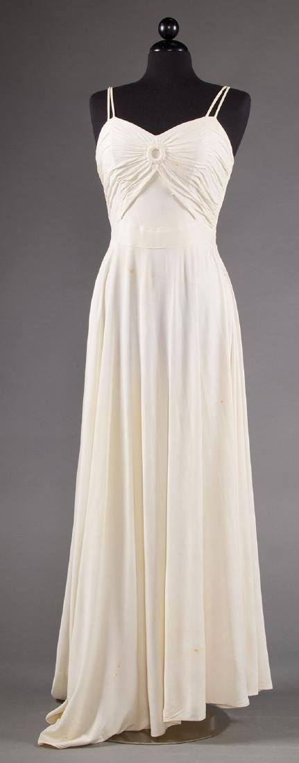 1 WHITE JERSEY GOWN & 1 MAROON JACKET, 1938-1942 - 6
