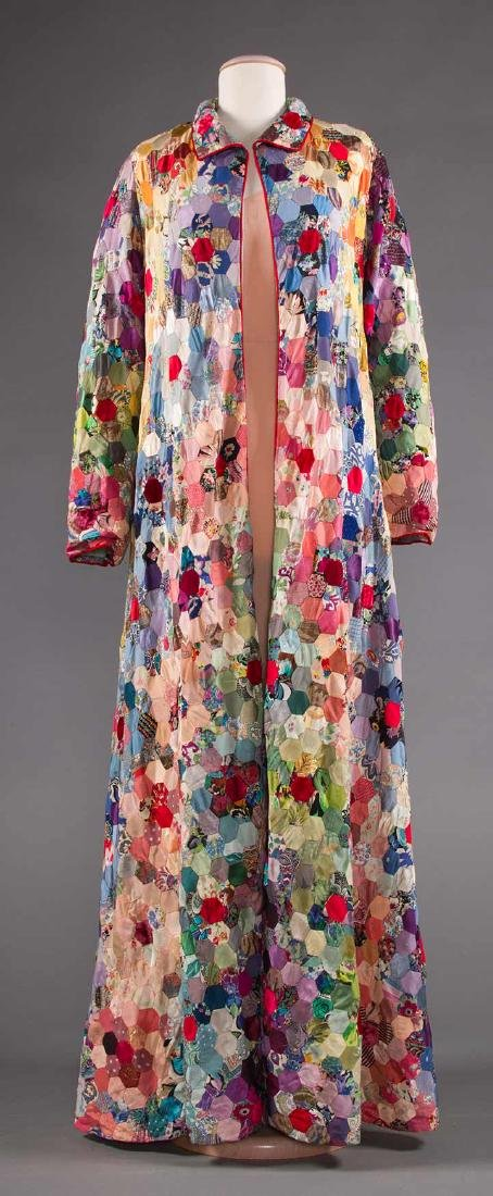 SUMMER COAT MADE OF PIECED QUILT, 1930-1940